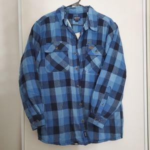 Smiths blue flannel sherpa jacket